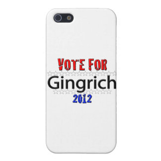 Vote for Newt Gingrich in 2012 Cover For iPhone 5
