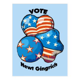Vote for Newt Gingrich Postcard