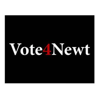 Vote for Newt Postcard