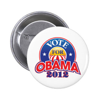 Vote for Obama 2012 Button
