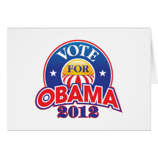 Vote for Obama 2012 Card