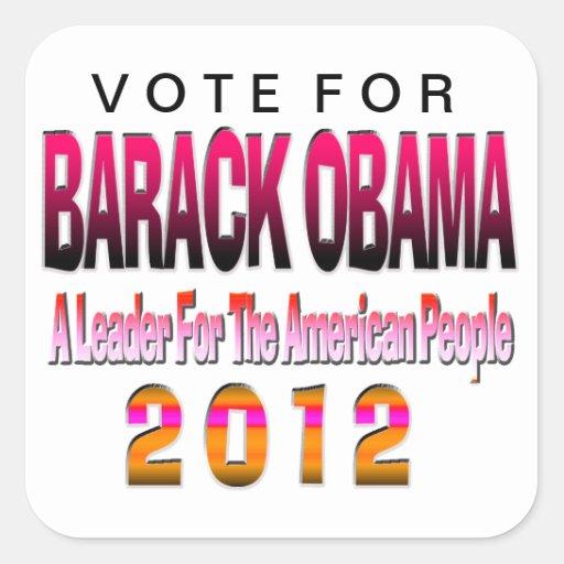 VOTE FOR OBAMA 2012 STICKER