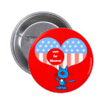 vote for Obama! Pinback Buttons