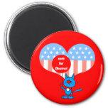 vote for Obama! Refrigerator Magnets