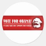 Vote for Obama! Round Sticker