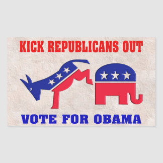 VOTE FOR OBAMA STICKER