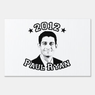 VOTE FOR PAUL RYAN 2012 SIGN