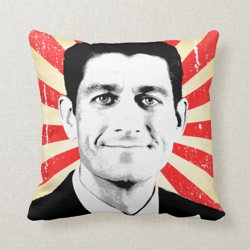 VOTE FOR PAUL RYAN.png Throw Pillow