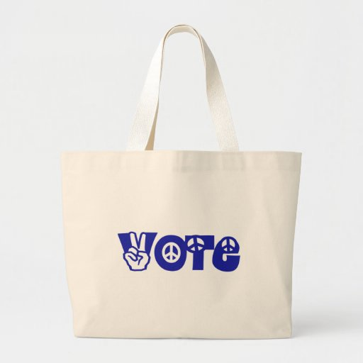 Vote For Peace Canvas Bag