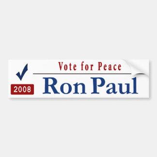 Vote for peace car bumper sticker
