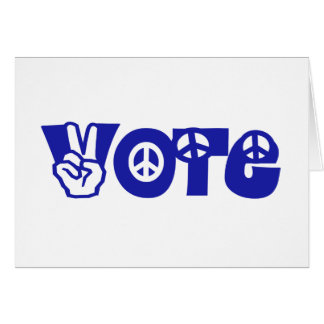 Vote For Peace Greeting Card