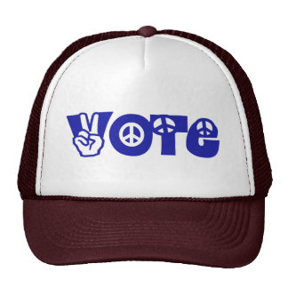 Vote For Peace Trucker Hat