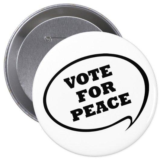 Vote For Peace White Button