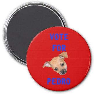 Vote For Pedro 3 Inch Round Magnet