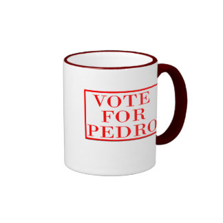 Vote For Pedro Ringer Coffee Mug