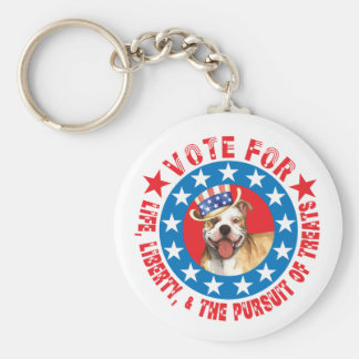 Vote for Pit Bull Keychain