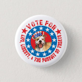 Vote for Pit Bull Pinback Button