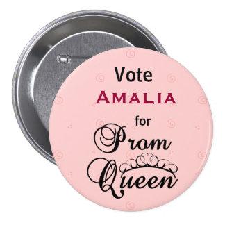 Vote for Prom Queen Button