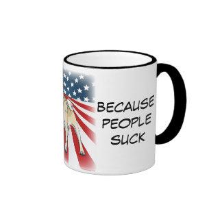 Vote for Pug, Because People Suck Ringer Mug