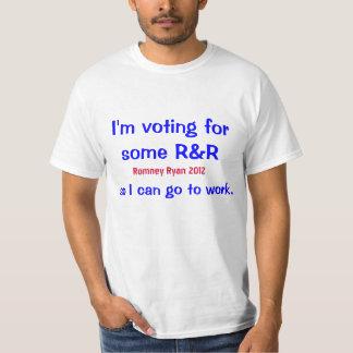 Vote for R&R. Romney Ryan 2012. T-Shirt