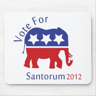 Vote for Rick Santorum for President 2012 Mousepads