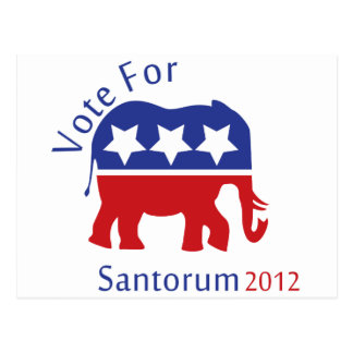 Vote for Rick Santorum for President 2012 Postcard
