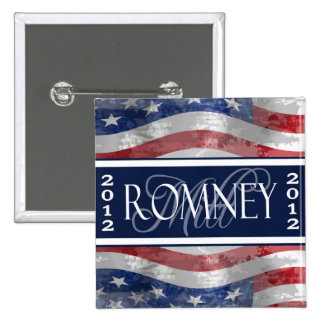 Vote for Romney 2012 Button
