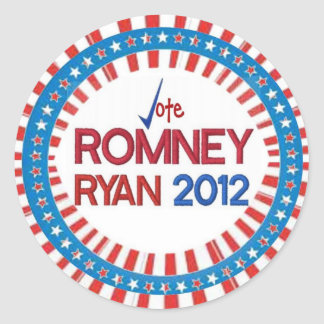 Vote for Romney Ryan 2012 Stickers