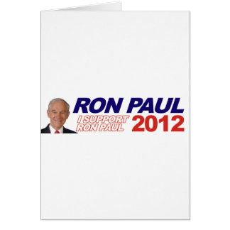 Vote For Ron Paul - 2012 election president Card