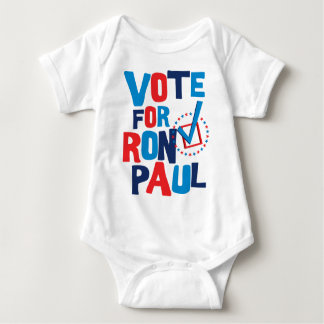 Vote For Ron Paul Election 2012 Baby Bodysuit