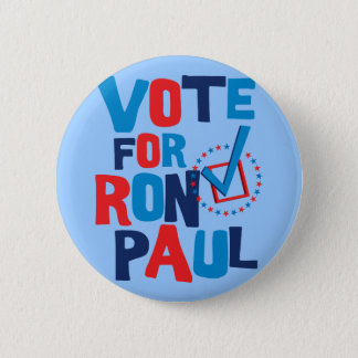 Vote For Ron Paul Election 2012 Button