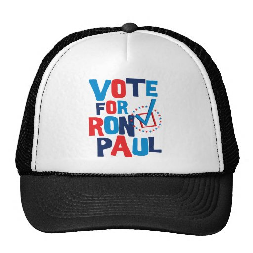 Vote For Ron Paul Election 2012 Mesh Hat
