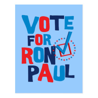 Vote For Ron Paul Election 2012 Postcard