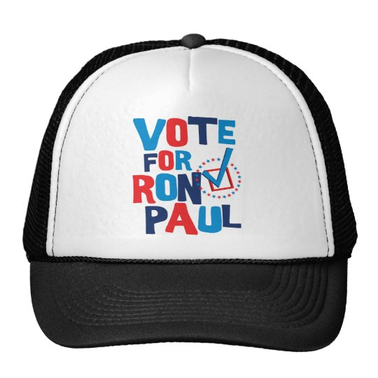 Vote For Ron Paul Election 2012 Trucker Hat