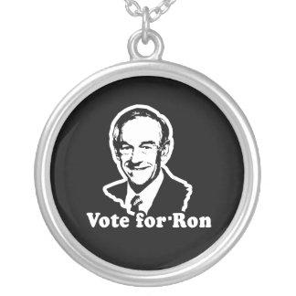 VOTE FOR RON ROUND PENDANT NECKLACE