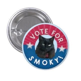 VOTE for SMOKY!  Black Cats RULE! Pin