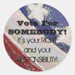 Vote For SOMEBODY! Sticker
