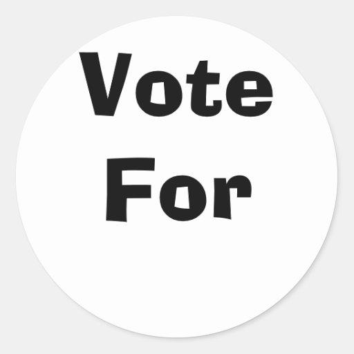 Vote For Stickers