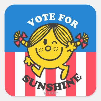 Vote For Sunshine Square Sticker
