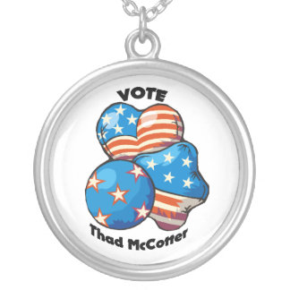 Vote for Thad McCotter Round Pendant Necklace