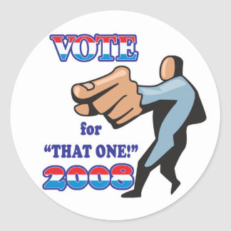 vote for that one 2008 classic round sticker