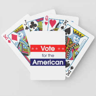 Vote for the American - Romney - President - Obama Bicycle Playing Cards