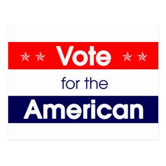 Vote for the American - Romney - President - Obama Postcard