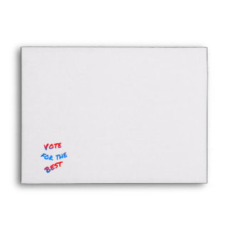 Vote for the best, elections envelope