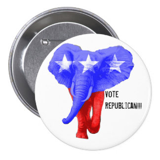 Vote for the Charging Republican Pinback Button