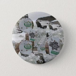 vote for the environment beach California.jpg Pinback Button