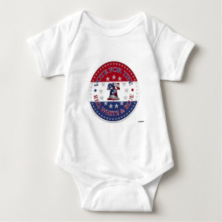 Vote for the Red, White Blue Liberty Bell 13 & 50 Baby Bodysuit