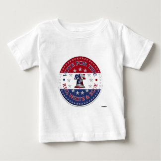 Vote for the Red, White Blue Liberty Bell 13 & 50 Baby T-Shirt