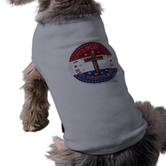 Vote For The Red, White & Blue with rugged cross Doggie T-shirt