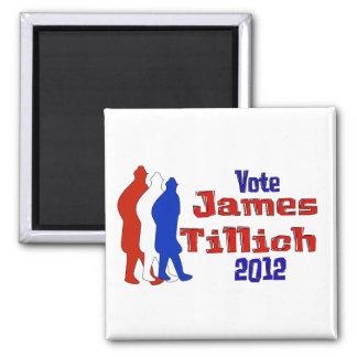 Vote For Tillich 2 Inch Square Magnet